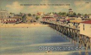 Old Orchard Beach, Maine USA Amusement Park Unused