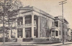 Greensboro North Carolina Elks Club House Street View Antique Postcard K93942
