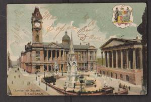 Chamberlain Square Birmingham , England - Used 1905 - Slight Wear
