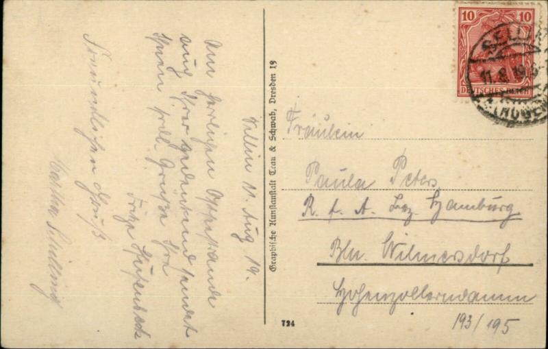 Sellin a Rugen Germany c1910 Postcard