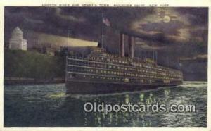 Hudson River And Grants Tomb, Riverside Drive, New York, NY USA Steam Ship Un...