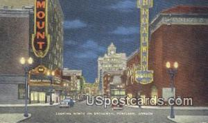 Broadway Portland OR Unused