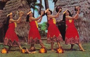 Hawaii Honolulu Kent Gihrard's Hula Nani Girls In Pahu Skirts 1968
