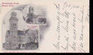Iowa Sioux City St Thomas Church Post Office & Federal Building 1904