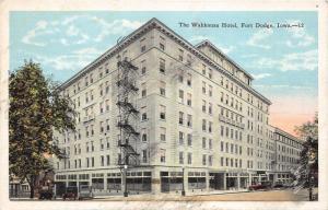Fort Dodge Iowa~Wahkonsa Hotel~1920s Postcard