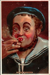 Jack Ashore Sailor Smoking, Great Atlantic & Pacific Tea Co Victorian Trade Card
