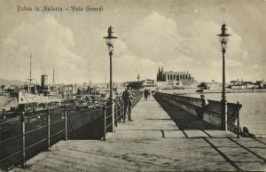 spain, PALMA DE MALLORCA, Vista General, Harbour Steamer (1910s)