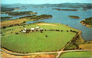 1960s Cherokee Lake Tennessee Aerial View Holston River Postcard GF