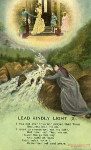 Woman Praying. Lead Kindly Light
