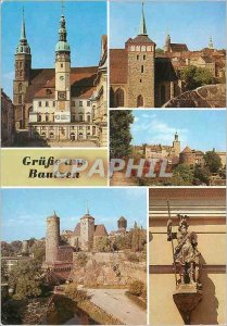 Postcard Modern Grusse aus Bautzen Rathaus und Petridom