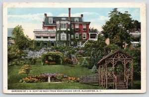 Rochester New York~JK Hunt Mansion~Maplewood Drive~Paper Box Factory Owner~1915
