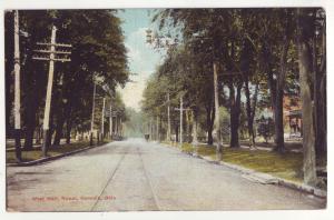 P653 JLs old card street scene west main st norwalk ohio