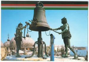 Italy, VENEZIA, Venice, The Moors of the Clock Tower, unused Postcard