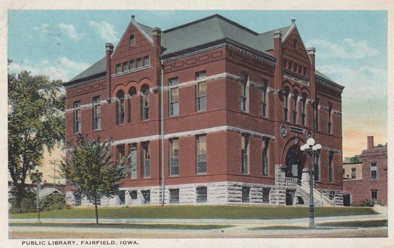 FAIRFIELD , Iowa , 1910s ; Library