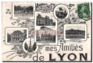 Old Postcard Lyon my Amities