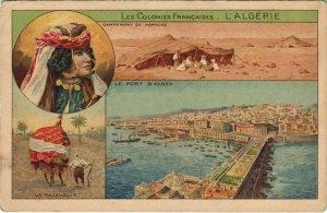 CPA AK Port d'Alger - Campement de Nomades - Un Palanquin ALGERIE (1145742)
