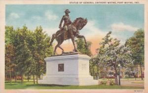 Indiana Fort Wayne Statue Of General Anthony Wayne