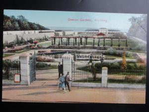 Sussex WORTHING Denton Gardens - Old Postcard