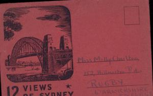 letter card 12 views of Sydney