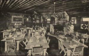 Savoy SD Latchstring Inn Dining Room Postcard c1920s
