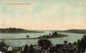 Postcard View Of Connecticut River Posted 1915