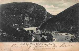 South from Winona Cliff, Delaware Water Gap, PA, Early Postcard, Used in 1906