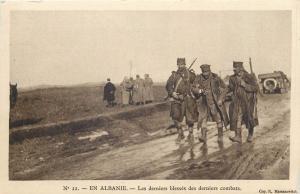 WW1 Albania Albanie - Les derniers blesses des derniers combats wounded soldier