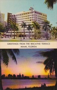 Florida Miami Greetings From The Biscayne Terrace