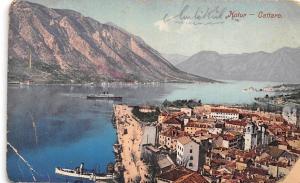 Montenegro Kotor - Cattaro, ship, coast, panorama 1914