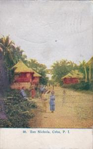 Village Scene San Nichola Cebu Philippines 1911