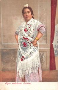 Andalucia Spain Soledad typical female of the region antique pc Z40397