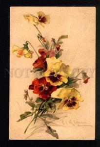 046885 Lovely PANSY Bouquet by C. KLEIN vintage GOM 1682 PC