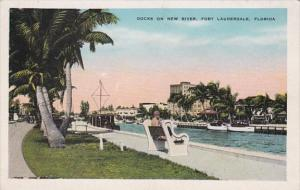 Florida Fort Lauderdale Docks On New River