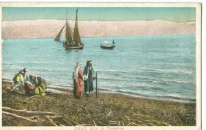 Dead Sea in Palestine, early 1900s unused Postcard