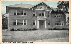 F15/ Marion Alabama Postcard 1913 Perry County High School