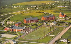 University of Wichita KS Veterans Football Stadium~Aerial Viw~Campus Linen 1940s