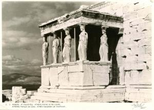 Greece - Athens, Portico of the Corahs *RPPC