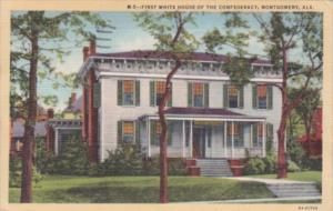 Alabama Montgomery First White House Of The Confederacy 1946 Curteich