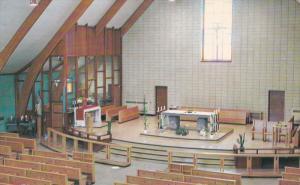 CHIBOUGAMAU, Quebec, Canada, Interioure Eglise Notre-Dame du Rosaire, des Per...