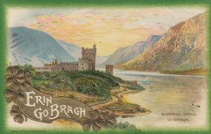 CO. DONEGAL , Ireland , 1911 ; Glenveigh Castle, Erin Go Bragh