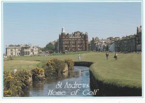 Post Card Scotland Fife St. ANDREWS Home of Golf Swilken Burn