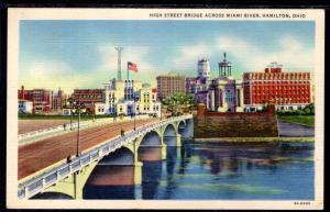 High Street Bridge Across Miami River,Hamilton,OH