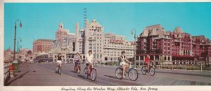 Bicycles On Atlantic City New Jersey Giant Bookmark 1960s Postcard