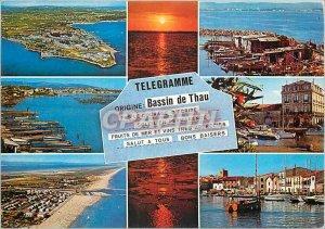 Modern Postcard The Bassin de Thau Balaruc les Bains Herault Bouzigues Sete M...