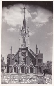 Nevada Virginia City St Mary's Church In The Mountains Real Photo