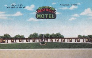 VINCENNES, Indiana, 1930-1940's; Restwell Motel