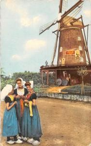 Netherlands Zeeland Holland, Een Vrolijk Drietal Women Traditional Costumes Mill