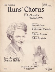 The Famous Nuns Chorus Gracie Fields 1940s Sheet Music