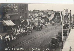 RP: Princeton , Illinois , July 4th , 1912 ; Main Street Parade #2