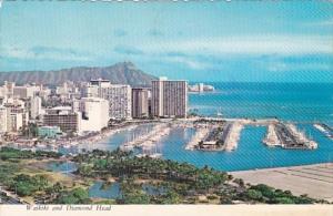 Hawaii Waikiki and Diamond Head Aerial VIew 1975